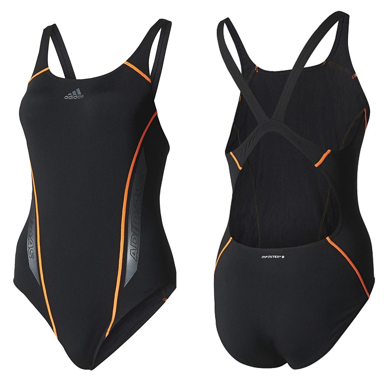 Adidas Damen Badeanzug Infinitex Schwarz Einteiler Mädchen