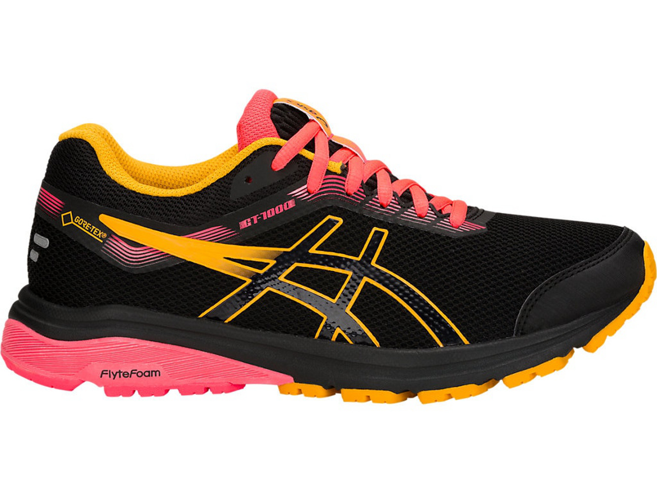Shoes ASICS GT 1000 7 G Tx GORE TEX 1012A031 BlackAmber 001